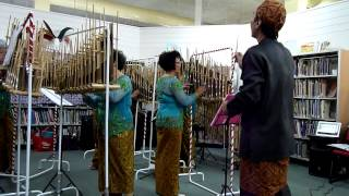 Indonesian Angklung group playing a version of Hey Jude by The Beatles