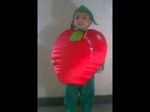 JANUSH Fancy Dress Competition As APPLE - YouTube