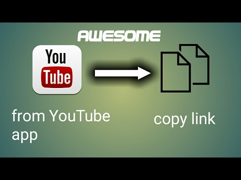 How to copy link in the YouTube app