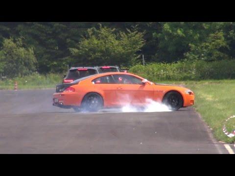 BMW M6 V10 Spins Out During Slalom!
