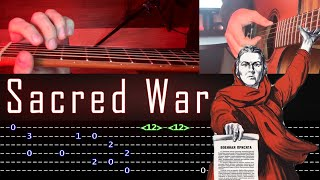 How to play 'Sacred War' Guitar Tutorial [TABS] Fingerstyle