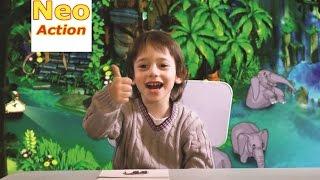 АНГЛИЙСКИЙ для детей. Учим названия животных на английском языке (видео урок).