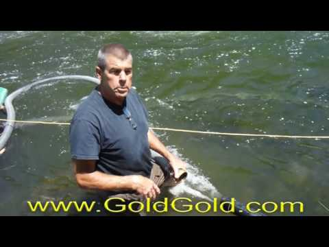 Gold Prospecting - Nonmotorized underwater suction mining