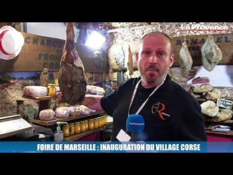 Le village corse a été inauguré ce matin à la Foire de Marseille