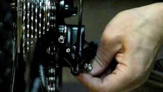 5.Настройка заднего переключателя(Уроки по настройке велосипеда от велоклуба