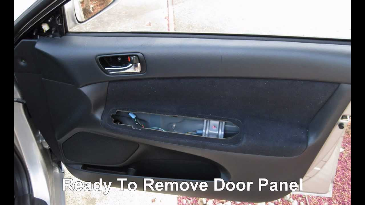 how to replace front door speakers in a toyota camry youtube. Black Bedroom Furniture Sets. Home Design Ideas
