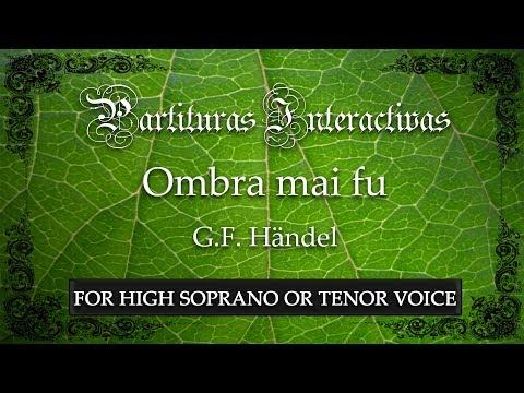 """Ombra mai fu """"Largo"""" - G. F. Händel (Karaoke - Key: G major) (Bonus track for high voice)"""