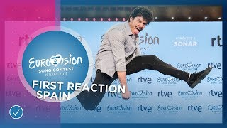 First reaction of Miki from Spain 🇪🇸 - Eurovision Song Contest 2019
