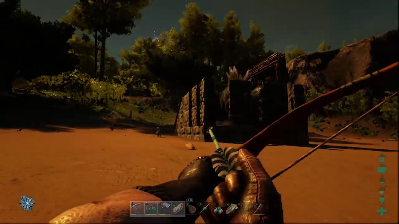 ARK: Survival Evolved- Basic Dino trap, caught a ...