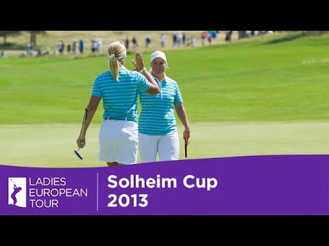Solheim Cup - Caroline Hedwall and Anna Nordqvist on the Day 2 Morning Foursomes