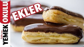 Eclair Recipe | How to Make Eclair  from A to Z? I Burak's Bakery Board