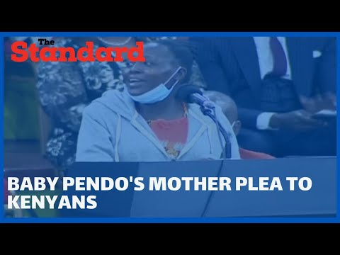 Baby Pendo's mother emotional message to Kenyans during the launch of  BBI report at Bomas of Kenya