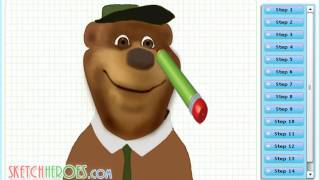 How to draw Yogi bear (Yogi Bear - The Film) - drawing tutorial video