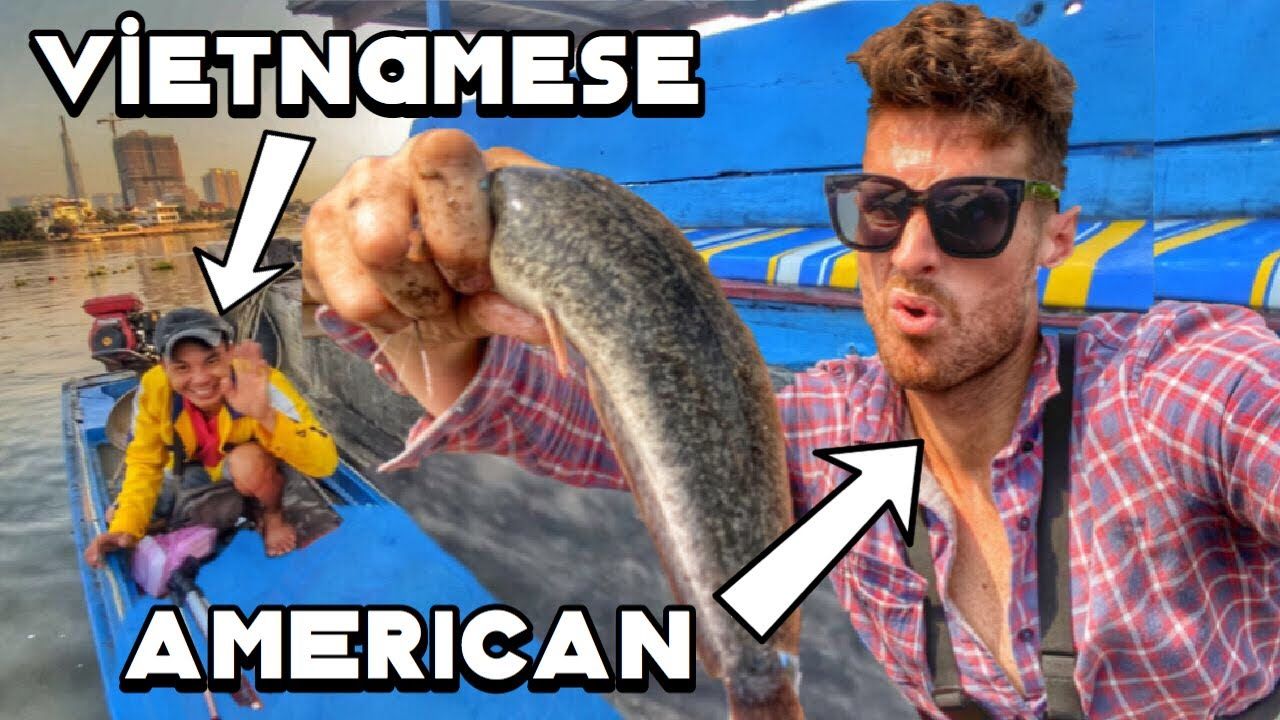 Vietnamese teaches American special fishing techniques! (With Miền Tây Thu Nhỏ)