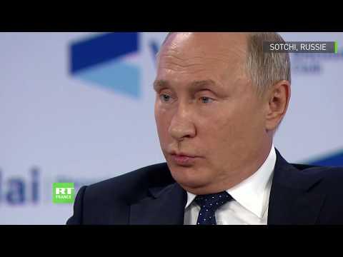 Club Valdaï : Vladimir Poutine répond à une question de Jean-Pierre Raffarin