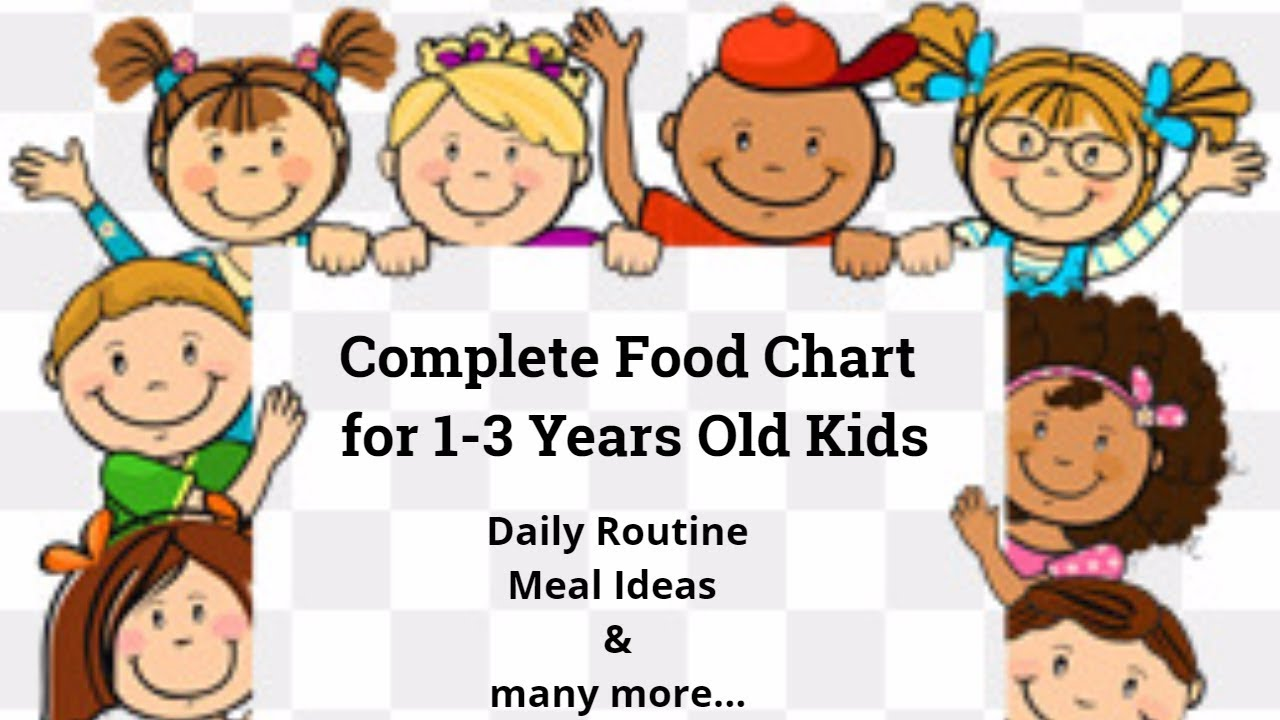Complete Food Chart For 1 3 Years Toddlers Kids Daily