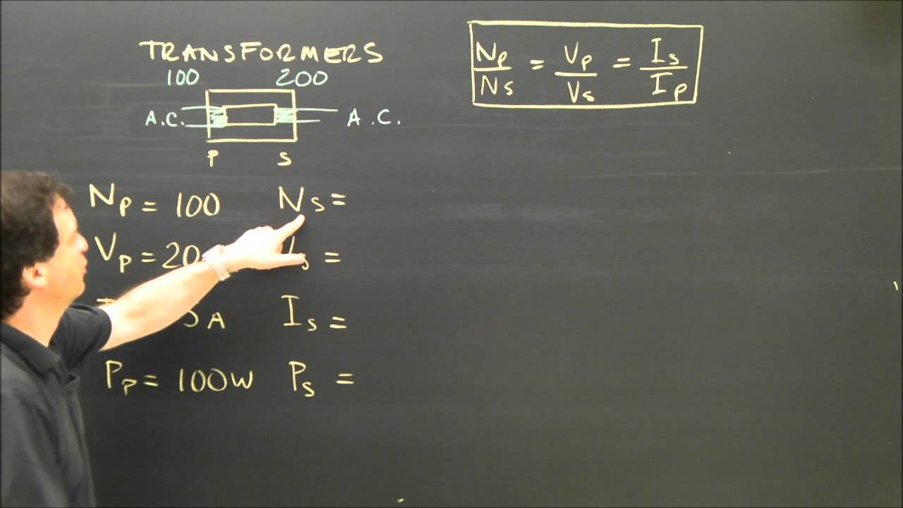 Electrical Transformer Calculations Physics Tutorial Youtube Arc Welding Diagram Premium