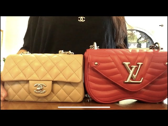 WIMB Comparison CHANEL mini flap & LOUIS VUITTON new wave PM