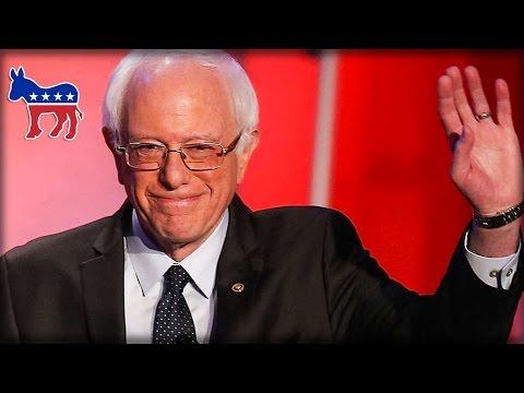 BERNIE SANDERS WALKS OUT ON DEMOCRATIC PARTY
