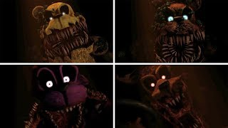 FNAF TWISTED ANIMATRONICS JUMPSCARES (FIVE NIGHTS AT FREDDY'S)
