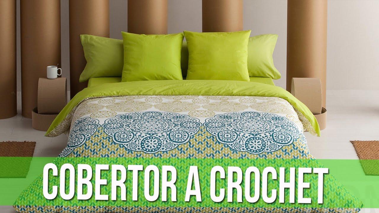 Cobertor de cama tejido en crochet youtube for Cobertor cama