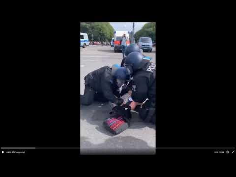 Schockierende Polizeigewalt in Berlin 29.8.2020