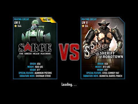 Real Steel WRB Championship Sarge VS Six Shooter NEW ROBOT UPDATE Halloween