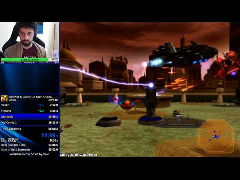 [World Record] Ratchet and Clank: Up Your Arsenal Any% Speedrun in 55:42