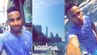 Working Out In Manhattan New York! I Lewis Hamilton Snapchat Vlog