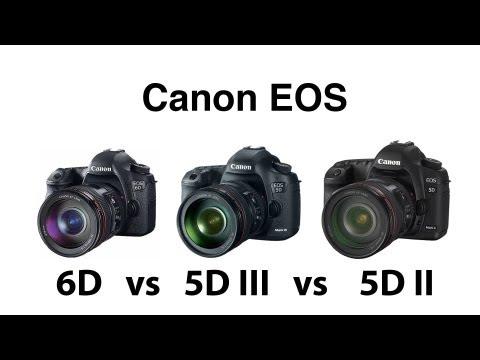 Canon EOS 6D vs 5D III vs 5D II comparison
