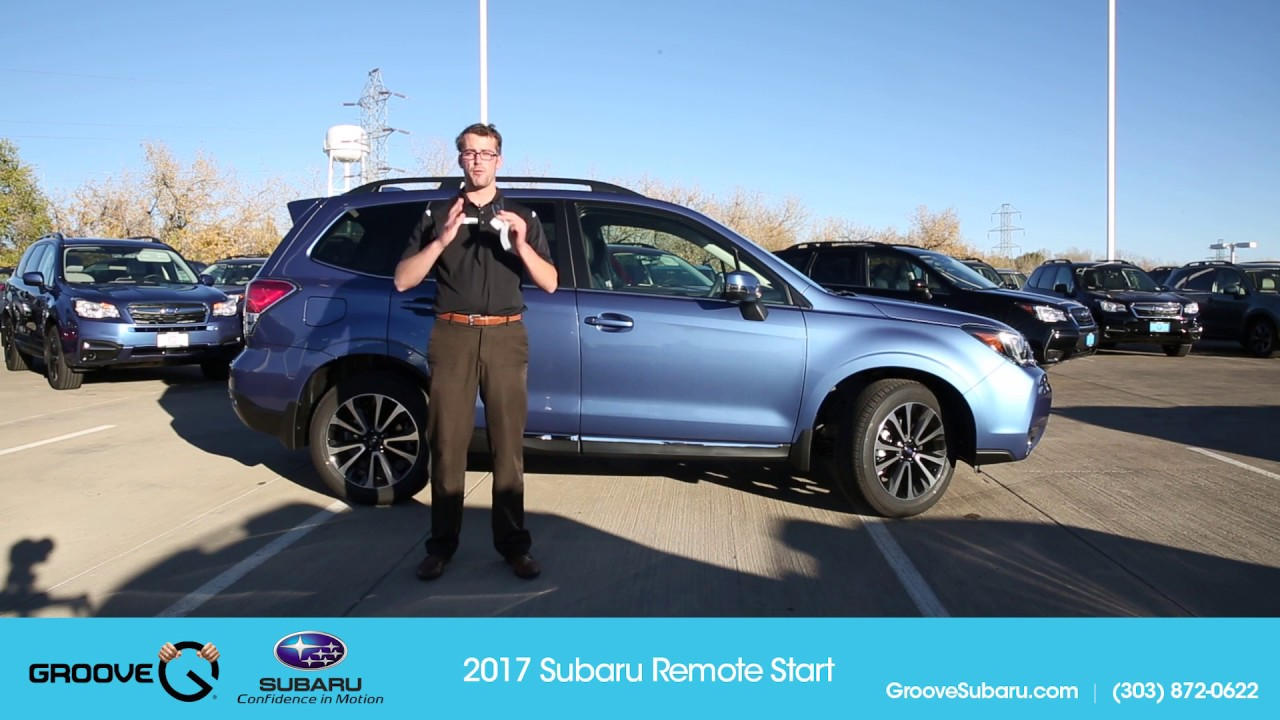 How To Using The New 2017 Subaru Remote Start System Youtube