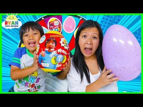 3 Color Egg Surprise Toys Mystery Wheel Challenge!!!!