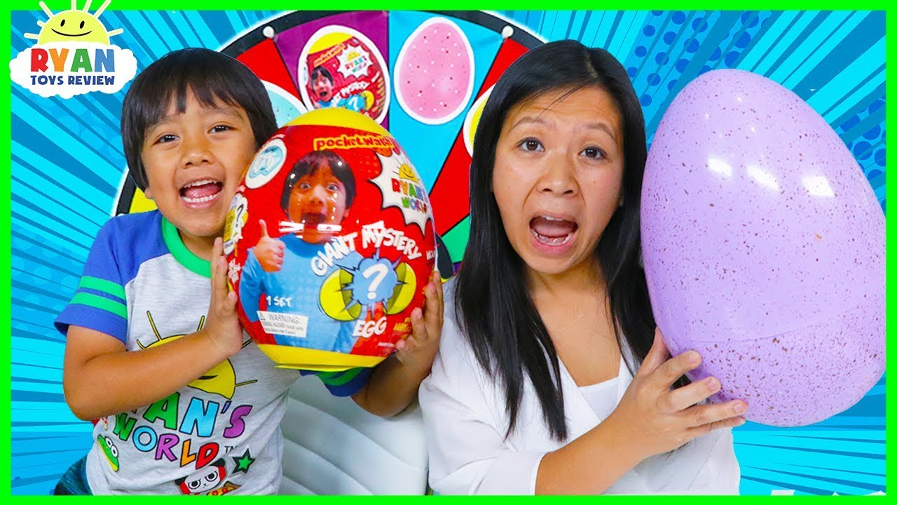 3 Color Egg Surprise Toys Mystery Wheel Challenge