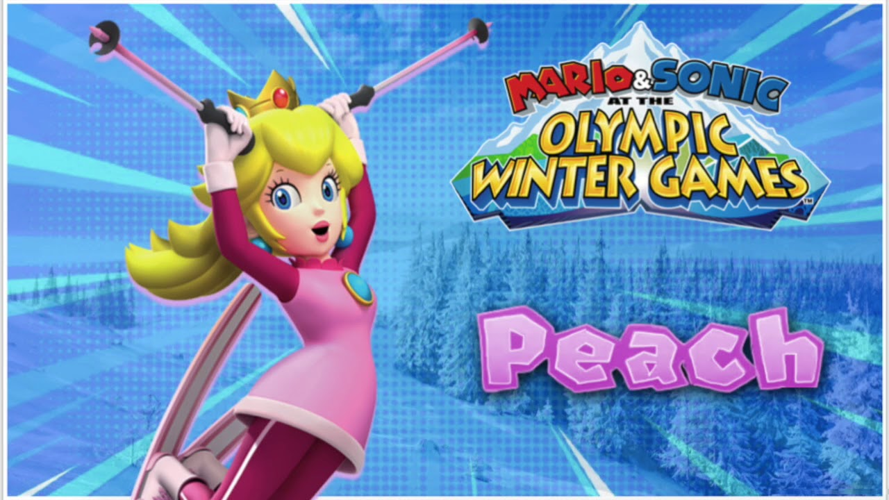 wii mario sonic olympic winter games peach voice. Black Bedroom Furniture Sets. Home Design Ideas