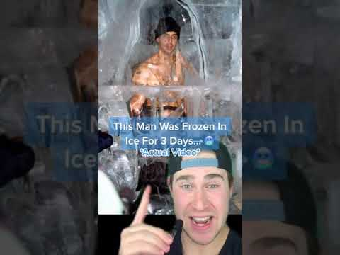 THIS MAN WAS FROZEN IN ICE FOR 3 DAYS AND SURVIVED!! #Shorts
