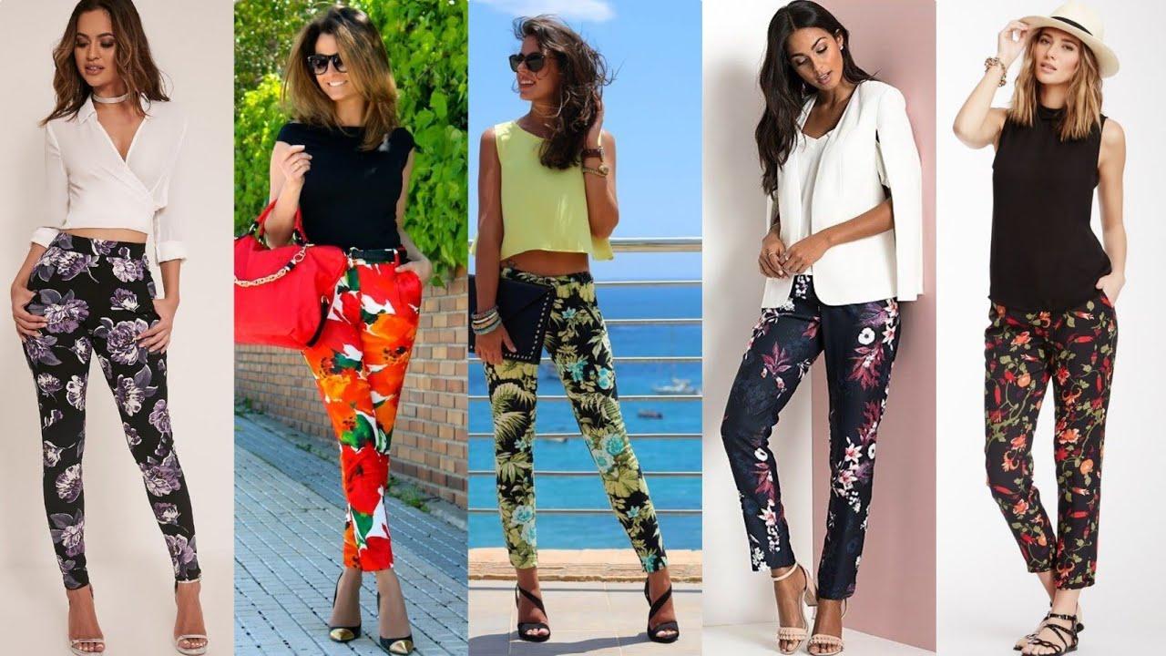 Pantalones De Flores Para La Temporada Primavera Verano Moda Mujer 2020 Youtube
