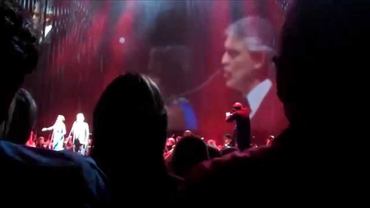 Andrea Bocelli Heather Headley The Prayer Msg Nyc 12 17 14 Youtube