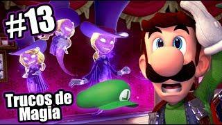 Trucos de Magia en Mansion de Luigi   Luigi's Mansion 3 Capitulo 13   Juegos Karim Juega