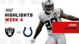 Josh Jacobs Highlights vs. Colts | NFL 2019