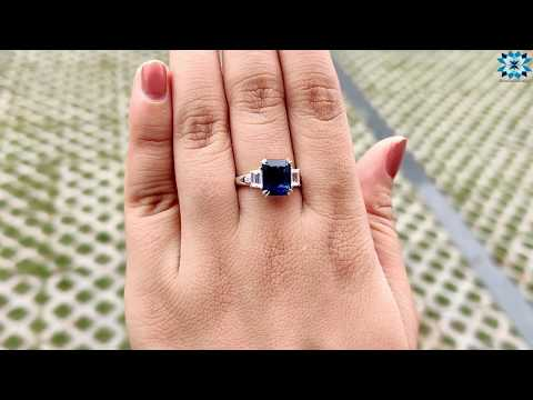 2.68-tcw-radiant-and-trapezoid-moissanite-ring-|-five-stone-ring-|-wedding-ring-|-engagement-r