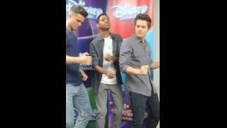 Billy Unger, Spencer Boldman & TJ Williams dancing