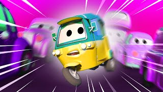 Tom the Tow Truck -  Tao loses a wheel - Car City ! Cars and Trucks Cartoon for kids