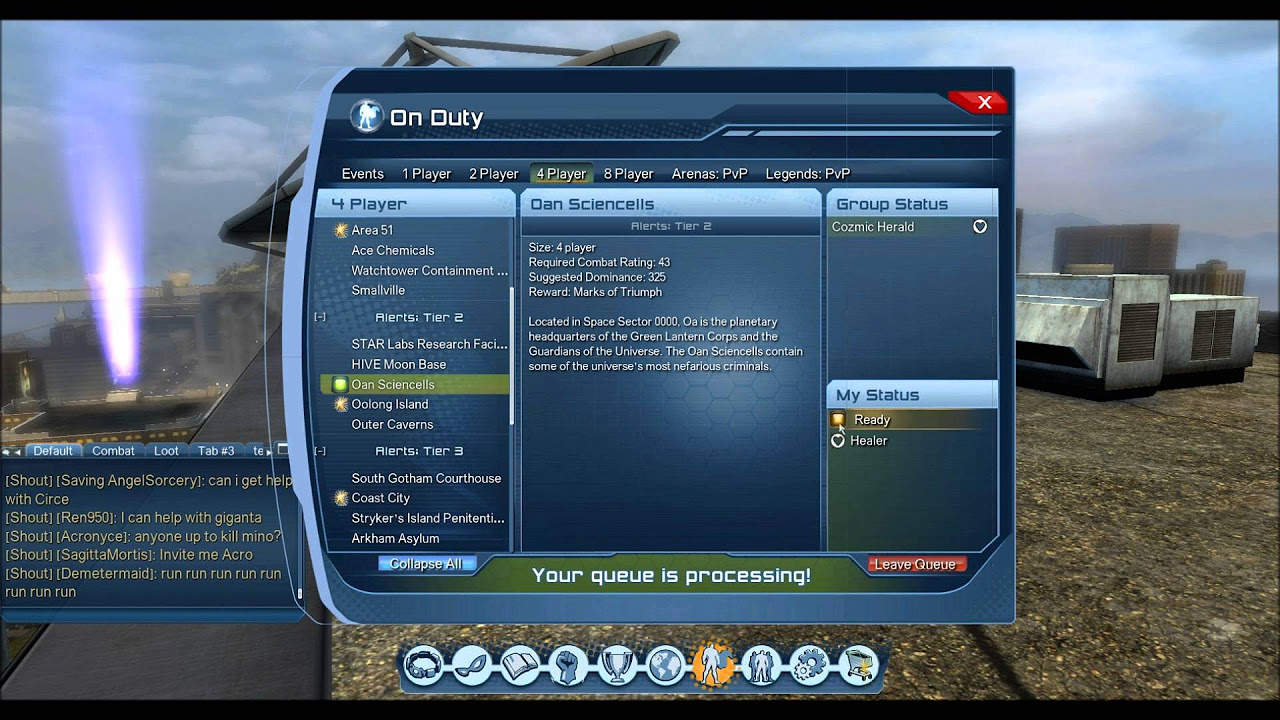 Dc Universe Online Information Station Inside Bases And On Duty
