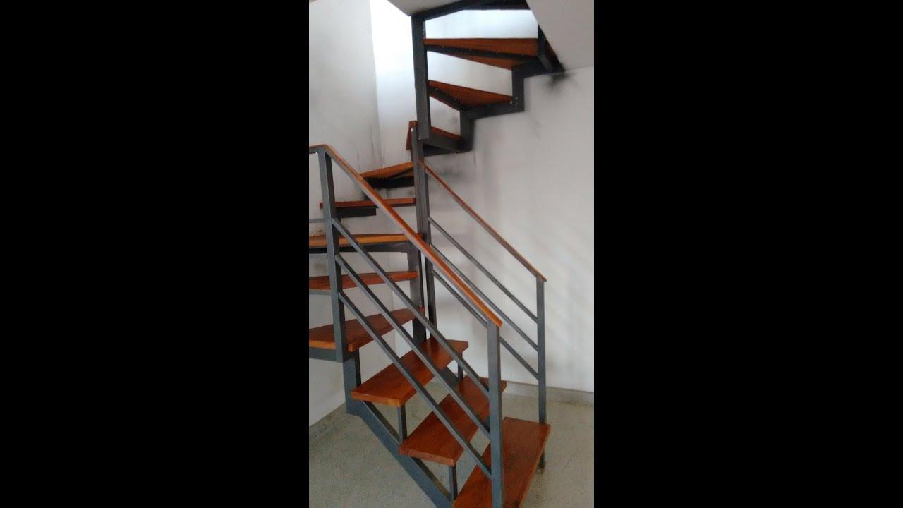 Escada semi caracol em bh mg youtube - Escaleras de interior modernas ...