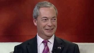 Nigel Farage reacts to Donald Trump