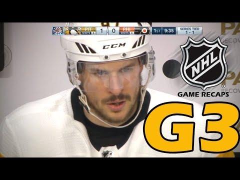 Pittsburgh Penguins vs Philadelphia Flyers. 2018 NHL Playoffs. Round 1. Game 3. 04.15.2018. (HD)