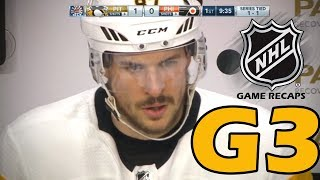 Pittsburgh Penguins vs Philadelphia Flyers. 2018 NHL Playoffs. Round 1. Game 3. 04.15.2018. (HD)