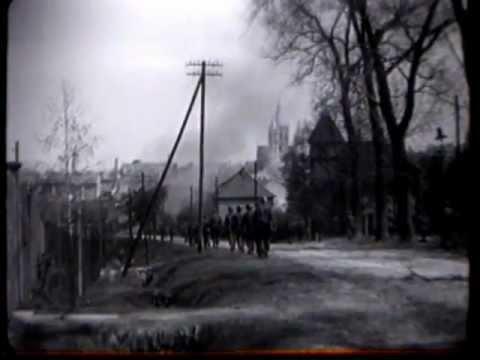 Combat footage Thuringia 1945.
