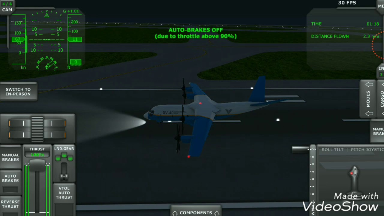The XV 40 experimental aircraft can be take off within 8 seconds  Turboprop  flight simulator