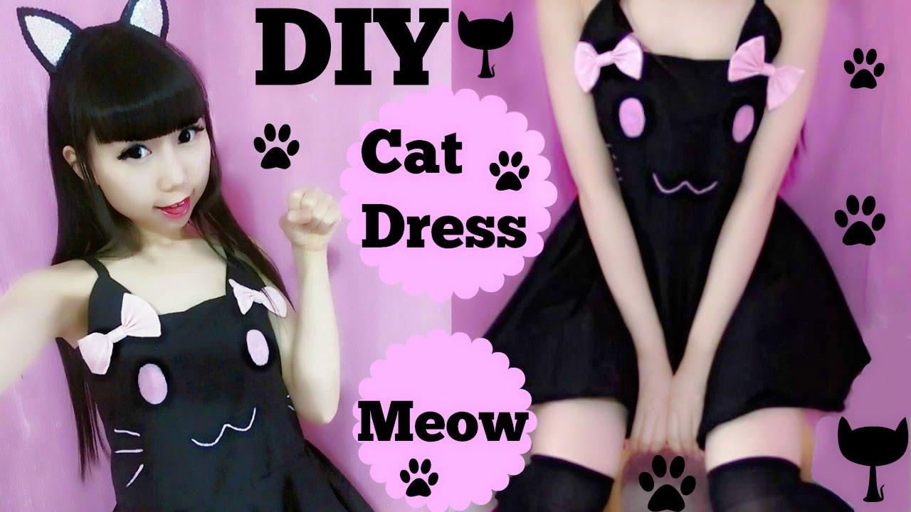 halloween costume diy cat costumedress youtube - Cat Costume Ideas Halloween